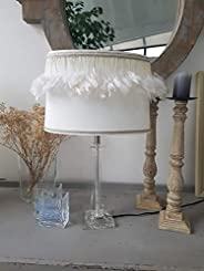 """Lampe blanche à plumes"""" Mademoiselle Col"""