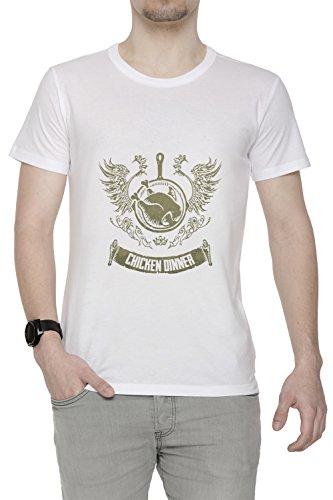 Winner Winner Chicken Dinner Men's T-Shirt Crew Neck White Tee Short Sleeves