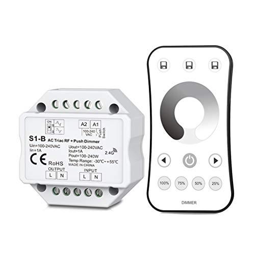 Fafalloagrron Wireless AC RF Triac Dimmer mit