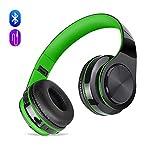 Cuffie Wireless Bluetooth con Cancellazione del Rumore e Microfono Incorporato, Meihua Tu Auricolare Bluetooth con Stereo Hi-Fi Ricaricabile per iPhone 7,iPad,Samsung,TV e Computer(verde)