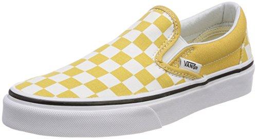 Vans Unisex-Erwachsene Classic Slip-On Sneaker Gelb (Checkerboard)