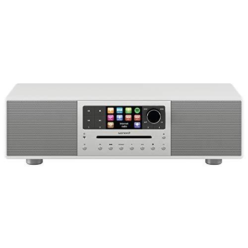 sonoro Meisterstück Kompaktanlage (FM/DAB/DAB+/WLAN, CD, AUX-in, aptX Bluetooth, Multiroom, Spotify) Weiß - Digital Internet-Radio