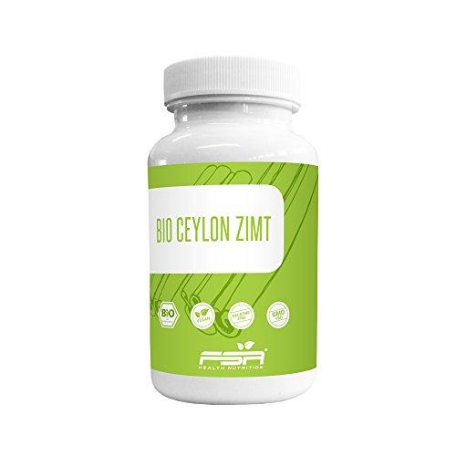 Bio Ceylon Zimt Kapseln 500mg hochdosiert der Profisport Marke FSA Nutrition | aus echter Ceylon-Zimtrinde | Ohne Füll- und Trennstoffe | vegan | 120 Kapseln