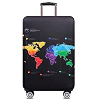 Travel Suitcase Protector Zipper Suitcase Cover Washable Print Luggage Cover 18-38 Inch