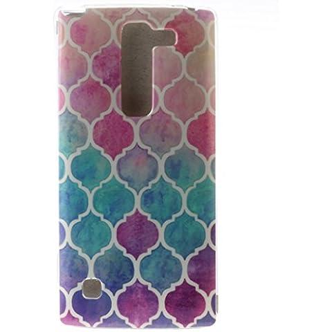 case cover para LG K10,Crisant rompecabezas de color Diseño Protección suave TPU Gel silicona Teléfono Celular Back funda Carcasa para LG