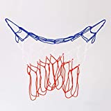 Dynamovolition Rete da basket standard in nylon durevole Rete da canestro a rete fissa Rosso + bianco + blu Rete da basket Accessori sportivi da esterno