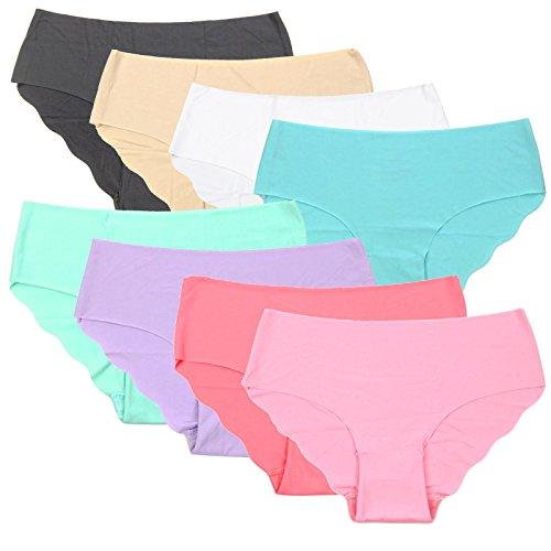 EROSPA® Nahtlose Panties Seamless Damen Frauen Mädchen Hipster Slip Panty elastisch bequem weiche Qualität 8 Farben (S/M, Türkis) (Hipster Nahtlose)