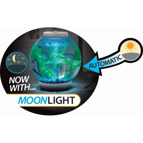 Baby biOrb Moonlight Aquarium 15 l – Silber – Design Komplett Aquarium 15 Liter