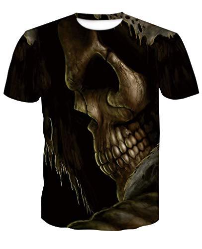 68e70aad30d9 XMDNYE Schädel T Shirt Halloween Männer Frauen 3D Drucken DJ T-Shirt  Kurzarm Hip-Hop Tees Sommer Tops Coole t-Shirt benutzerdefinierte