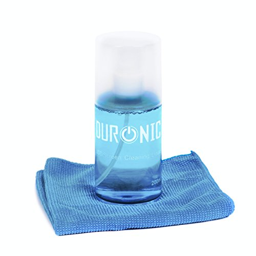 Duronic SCK101 Screen Cleaner LCD TFT LED Plasma OLED 4K TV iPad Smartphone Laptop Camera Screen Cleaner Cleaning Kit [ 200 millilitre] Complete with Microfibre Cloth
