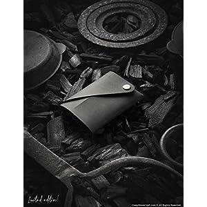 Minimalistische Ledermappe/Kartenhalter | Carbon Black Crazy Horse Typ Leder KartenhalterVintage Premium-Qualität…