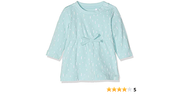 Blue Name It Baby/_Girls NBFDELUCIOUS LS Tunic NOOS Dress 9-12 Months Canal Blue