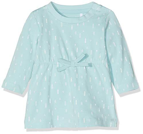 Name IT NOS Baby-Mädchen Kleid NBFDELUCIOUS LS TUNIC NOOS, Blau (Canal Blue), (Herstellergröße: 68)