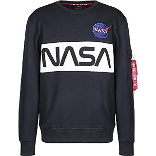 Alpha Industries Sweater NASA Inlay , Größe:L, Farbe:rep.blue