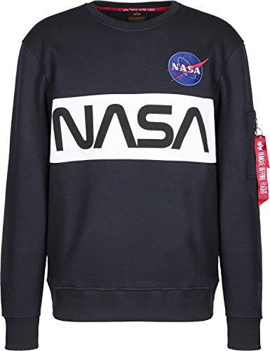 Alpha Industries NASA Inlay Sweatshirt Dunkelblau L
