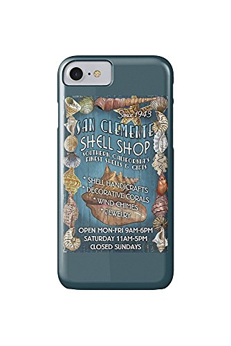 San Clemente, California - Shell Shop Vintage Sign (iPhone 7 Cell Phone Case, Slim Barely There)