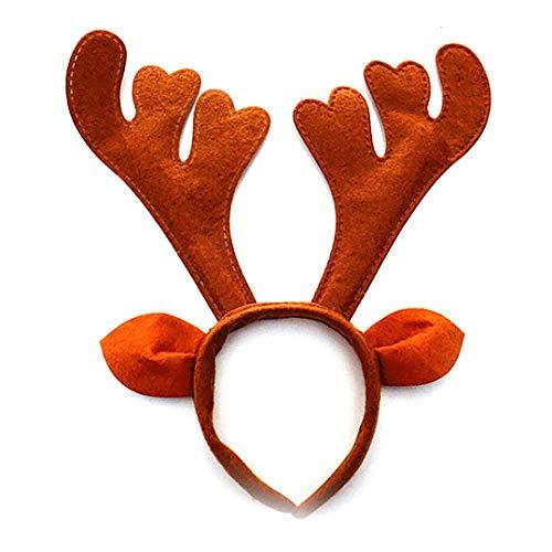 Rentiere Stirnband Boutique Weihnachten Stirnband Elfin-Geweih-Stirnband Deer Partei Hüte für Ostern Halloween Weihnachten Kid Partei (Halloween Stirnbänder)