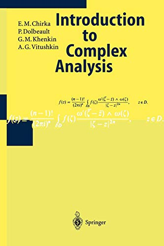 Introduction to Complex Analysis (Encyclopaedia of Mathematical Sciences, Band 7)