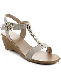 Amazon perle Pantofole e donna da it con Scarpe Scarpe Sandali twwIr