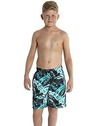 Speedo Leisure-Bañador para niño Negro Jumpin Fun Noir/Aquarium/Bleu de Bali/Blanc Talla:large