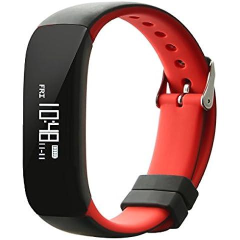 NONMON rastreador de ejercicios inteligente podómetro cinturón de pulsera esfigmomanómetro frecuencia cardíaca frecuencia cardíaca monitor de presión arterial monitor del sueño - rojo