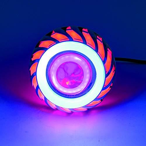 Einfach zu installieren Motorrad LED-Scheinwerfer-Motor-Scheinwerfer-Birnen-wasserdichte treibende Lampen mit den Engels-Augen beleuchtet 1200LM 30W Mehrfarbenbeleuchtung wahlweise freigestellt Sinnvo -