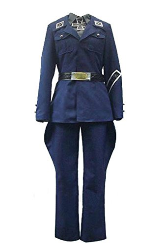 Hetalia: Axis Powers Preußen Uniform Cosplay Kostüm Herren Blau - Cosplay Preußen Halloween