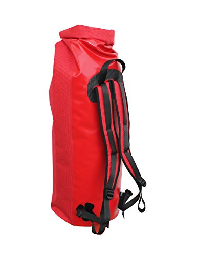 Wasserdichter Seesack - Transportsack mit Rollverschluss Rot