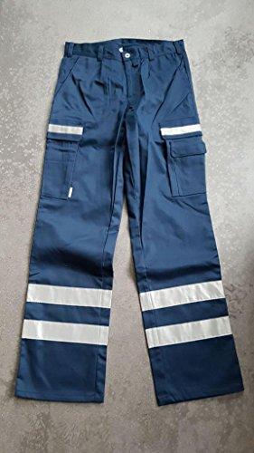Rettungsdienst Hose blau, mit Reflex Gr. 48 L - Einsatzhose Rettungsdienst - MUSTERHOSE