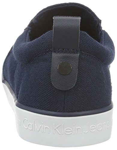 Calvin Klein Jeans DOLLY CANVAS, Chaussons avec doublure froide femme Bleu (Navy)