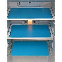 Yellow Weaves Refrigerator Plastic Drawer/Fridge Mats Pack of 6 Pcs (Blue, 11X17 Inch)
