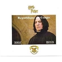 Harry-Potter-Briefmarken für Sammler - Professor Snape imperforate Miniatur-Briefmarkenbogens - Großartiger Zustand und frisch - 2013 / Kongo / 300F