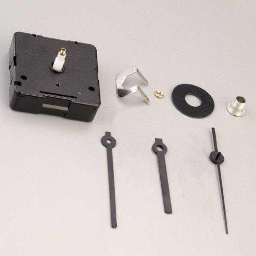 efco Quarzlaufwerk und Zeiger für Zifferblatt bis 5mm 1Stück/8Teile, schwarz -