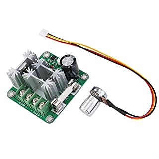 Foxnovo 6V-90V 15A Pulse Breite PWM DC Motor Speed Controller Switch (blau)