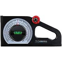 Instrumento de medición de pendiente de regla de ángulo horizontal multifuncional Declinómetro transportador de bisel universal - Blanco y negro