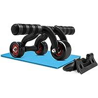 Amzdeal Ruedas Abdominal AB Roller Wheel con 3 Ruedas para Entrenamiento de Músculos de Vientre y Brazos
