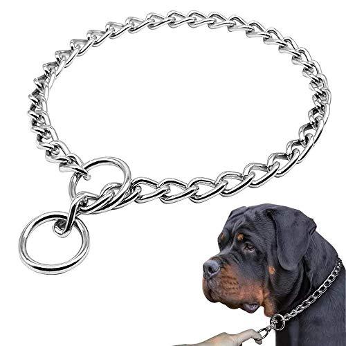 Supet Würgehalsbänder Verstellbare Hundehalsband Kette Würgehalsband Metall Halsbänder Verchromt Edelstahl Halsband Kettenhalsband Ausbildung für große Hunde