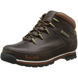 Timberland Euro Sprint - Botas de cuero hombre, color marrón (Mulch Forty), talla 43