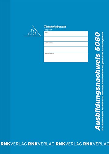 RNK - VERLAG  5080 Ausbildungsnachweis für tägliche Eintragung/Heft, DIN A4, 28 Blatt -