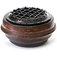 Räuchergefäß Netzgefäß aus Holz mit Eiseneinlage braun, Ø 9 cm, Räucherschale Gefäß Schale Netzeinsatz zum Räuchern preisvergleich bei billige-tabletten.eu