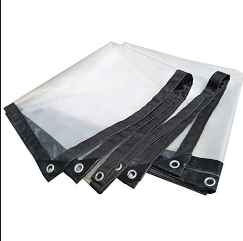 Zotee teli telone occhiellato patio antipioggia trasparente resistente all'acqua ottimo per tenda da canapa, copertura per camper o piscina,transparent_4x4m