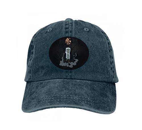 Unisex Baseball Cap Snapback Adult Cowboy Hat Hip Hop Trucker Hat Horror Nun Halloween Watercolor Navy