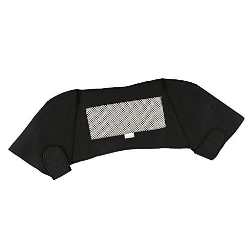 MagiDeal Schulterbandage doppelter Schultergurt, Schulterstütze Bandagen - Sport Fitness Training Schulterschutz Unterstützung, Schwarz - L
