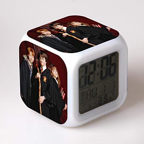 41q00hpSsqL - HHKX100822 Harry Potter Despertador Colorido Estado De Ánimo Led Despertador O
