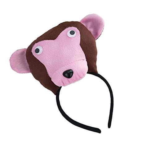Amosfun 3 Stück Kinder Tier Kostüm Set mit AFFE Ohren Stirnband Schwanz Fliege und Handschuhe für Party Cosplay Verkleidung (Affen Kostüm Mit Schwanz Und Ohren)