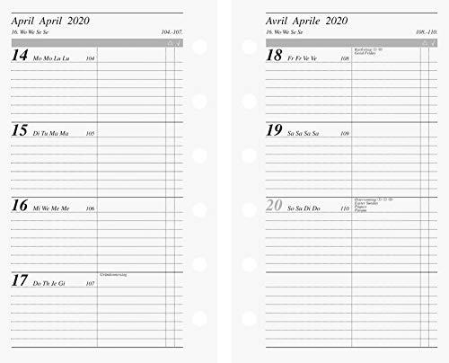 rido/idé 706991720, Wochenkalendarium/Zeitplansysteme, 2020, 2 Seiten = 1 Woche, Blattgröße 7, 6 x 12, 7 cm