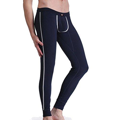 Layer Long Johns (Honghu Herren Thermounterwäsche Pants Unterwäsche Base Layer Long johns Leggings Size M Königsblau)