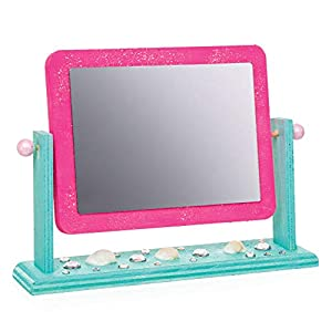 Baker Ross Mini Wooden Vanity Mirror Kits (Pack of 2) For Kids to Decorate, Personalise and Use For Mothers Day