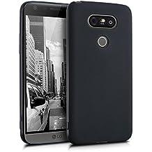 kwmobile Étui en TPU silicone élégant pour LG G5 / G5 SE en noir mat