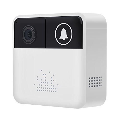 Vidéo Sonnette Camera san fil, Sonnette de Porte WiFi Smart Home Système de Sécurité avec Audio bidirectionnelle, Vision de Nuit Capteur de Mouvement